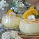 Crème dessert à la fleur d'oranger