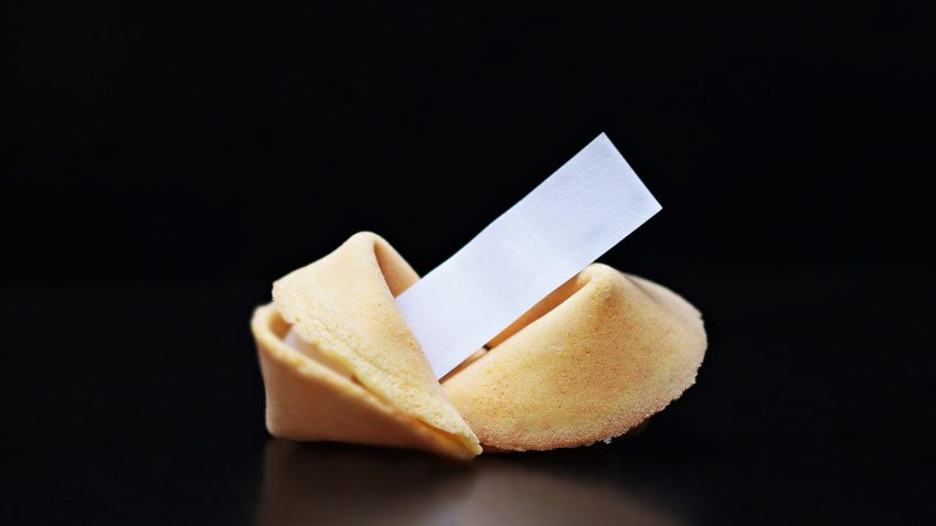 Fortune cookies (biscuits de chance asiatiques)