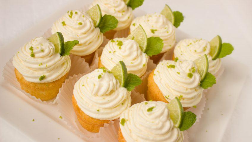 Cupcakes citrons vert - coco