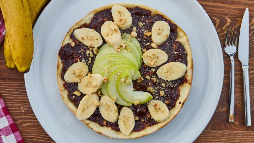 Crêpes au chocolat bananes et pommes