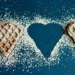 Gaufres en forme de coeur