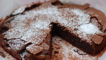 Gâteau léger au chocolat noir