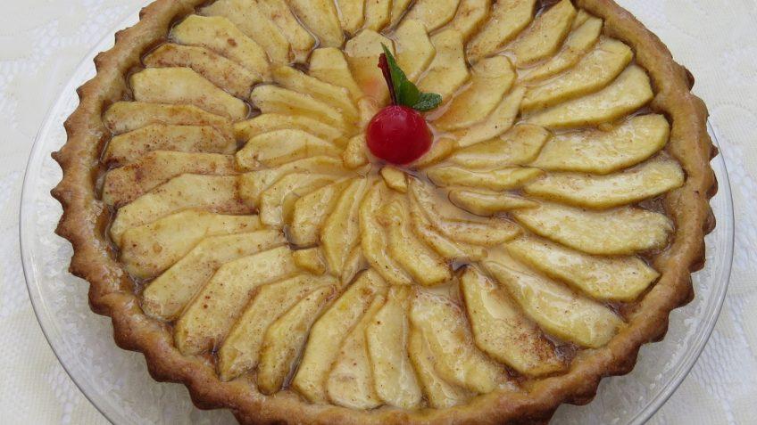 Tarte aux pommes et cannelle