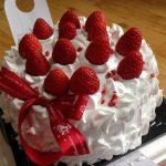 Gâteau à la génoise, chantilly de mascarpone et fraises