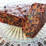 Gâteau de noël aux fruits confits