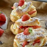 Eclairs chantilly fraises