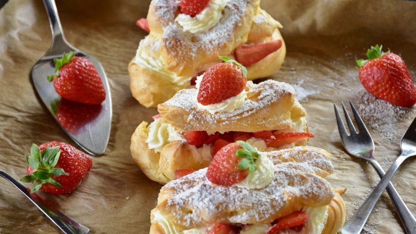 Eclairs aux fraises